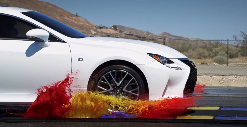 Slow Motion Lexus RC 350 F Sport