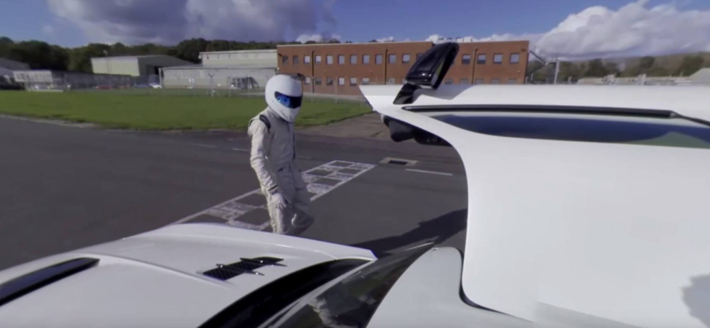 Un tour de circuit Top Gear avec le Stig en 360°