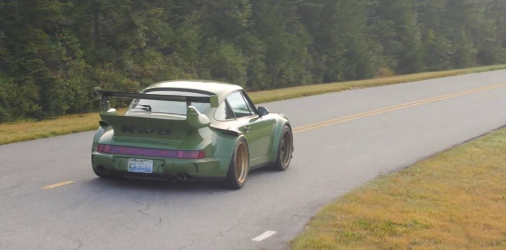 Une Porsche 911 RWB du côté d'Atlanta